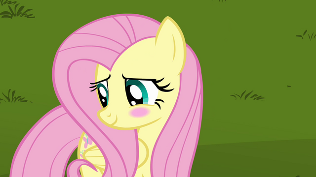File:Fluttershy cute blush S03E10.png