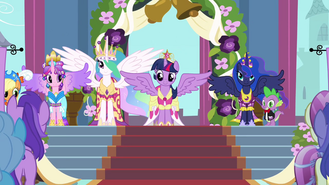 File:The four Equestrian princesses S03E13.png