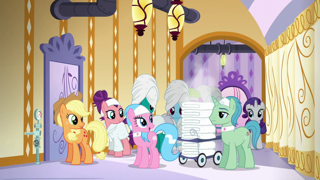 """File:Aloe """"sorry for the delay, everypony"""" S6E10.png"""