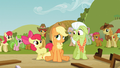 Apple Bloom and Granny Smith cheer up Applejack S03E08.png