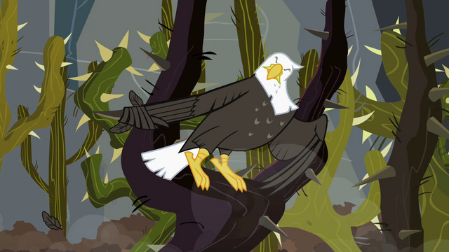 File:Eagle gets caught in a thorn S2E07.png
