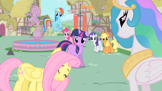 File:Fluttershy apologizes to Celestia S1E22.png