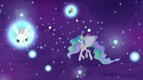 Princess Celestia in the realm of sleep S7E10