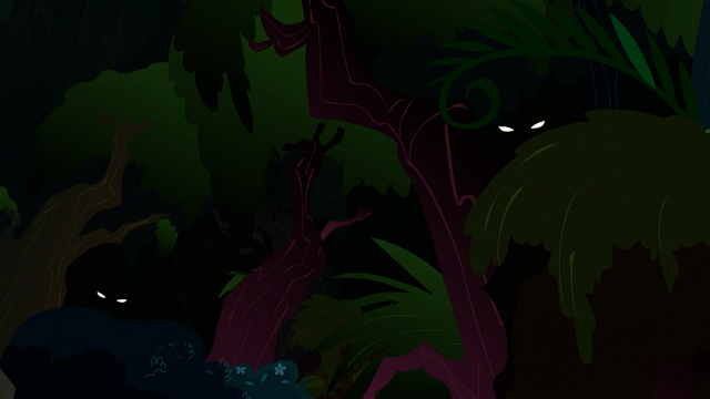 File:Glowing eyes peering out of the forest S3E9.png