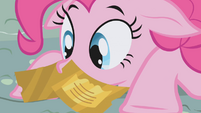 Pinkie with tickets on her face S1E03