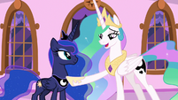 Princess Celestia appreciates her sister's effort S7E10