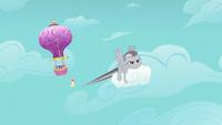 Rainbow Dash flying away S2E02