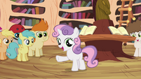 "Sweetie Belle ""we don't have Scootaloo's unicycle parts"" S4E15"