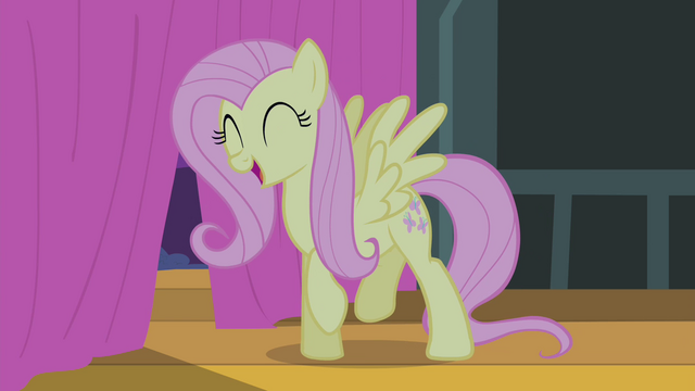 File:Fluttershy singing while doing a little dance S4E14.png