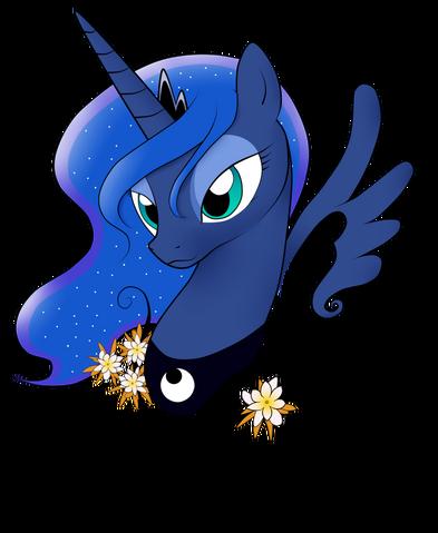File:FANMADE Princess Luna flowers.png