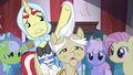 Flim touches old pony's hair S4E20.png