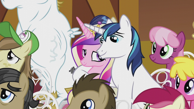 File:Shining Armor with hoof around Cadance S5E9.png