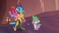 Ember holding the bloodstone scepter S6E5.png