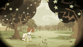 Granny Smith among blooming Zap Apple trees S2E12.png