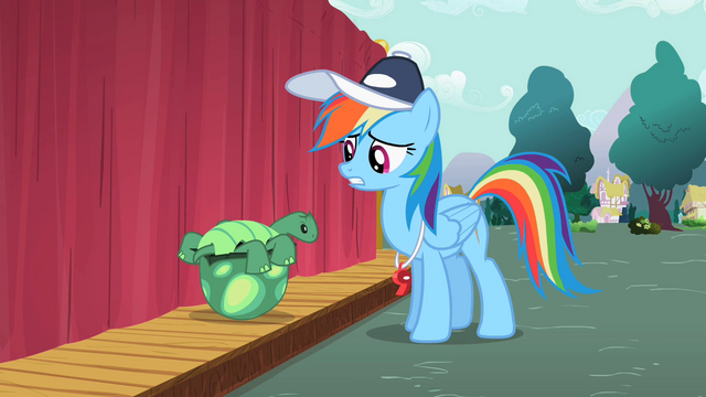 File:Rainbow Dash talking to Tank S2E07.png