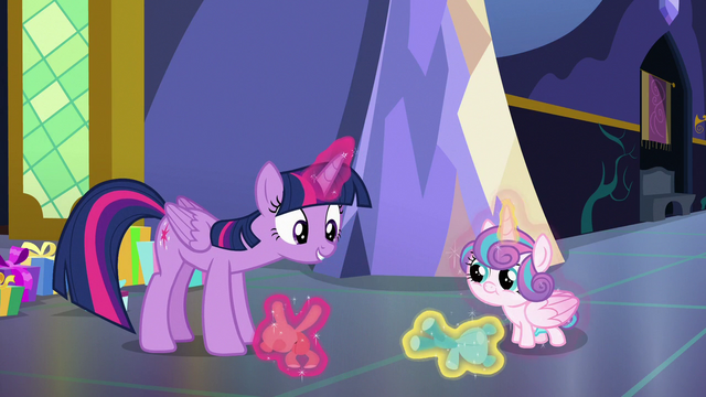 File:Twilight and Flurry playing with teddy bears S7E3.png