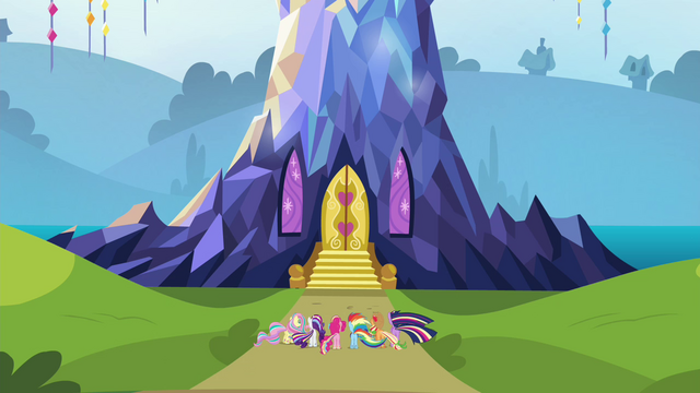 File:Mane 6 at their castle S4E26.png