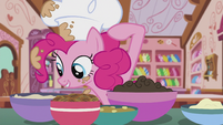 Pinkie pointing at chocolate ganache S5E8