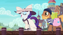 Rarity wearing an elegant suit S6E22