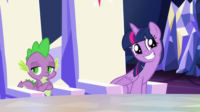 File:Twilight Sparkle giving a hinting grin S6E25.png