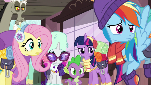 File:Twilight and friends confused by Pinkie's words S6E17.png