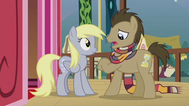 File:Dr. Hooves looking at imaginary watch S5E9.png