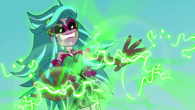 File:Gloriosa Daisy using her magic on Applejack EG4.png
