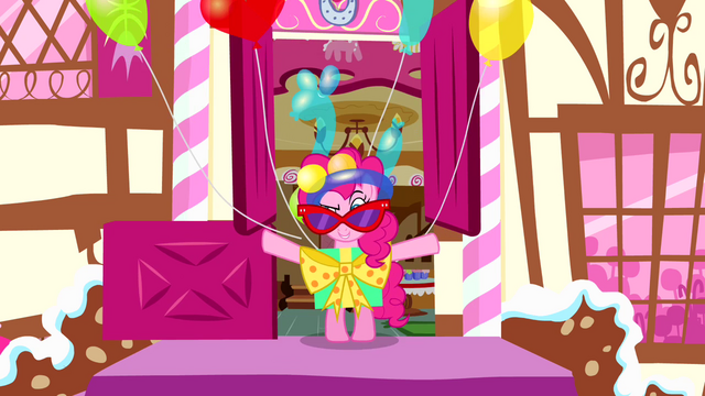 File:Pinkie Pie steps outside in ridiculous outfit S4E12.png