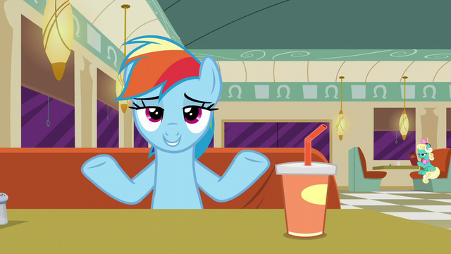 "File:Rainbow Dash ""if it's clothes or not"" S6E9.png"