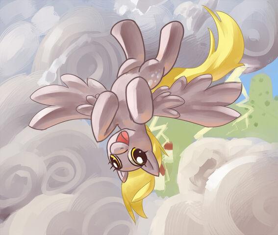 File:FANMADE Derpy flying upside down.jpg
