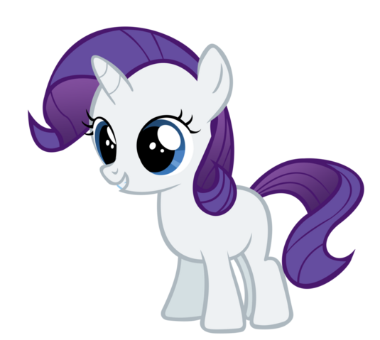 File:FANMADE Rarity filly.png