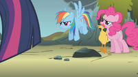 Rainbow Dash and Pinkie ready to go S1E07