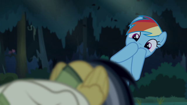 File:Rainbow Dash wondering what Daring's doing S4E04.png