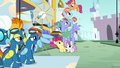 Scootaloo flutters to the top of the pyramid S7E7.png