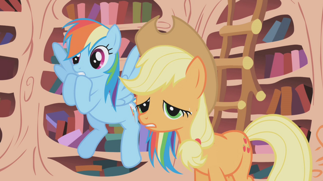 """File:AJ and Rainbow """"you don't have to do that"""" S1E03.png"""