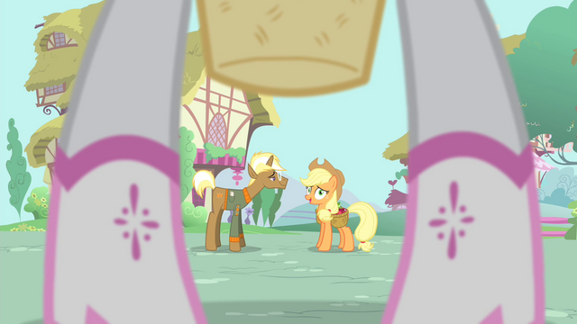 "File:Applejack ""what are you wearin'"" S4E13.png"