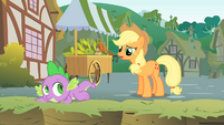 Applejack asks why Twilight is in a ditch S1E15