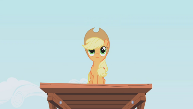 File:Applejack on the top of the platform S1E04.png