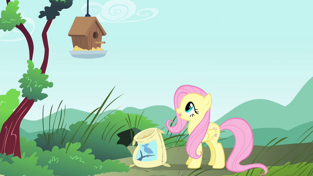 """File:Fluttershy """"there you go, Mr. Robin!"""" S4E23.png"""