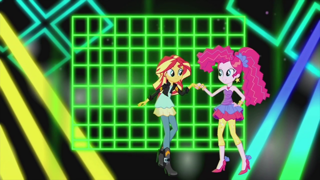 File:Sunset and Pinkie in electric environment EG2.png