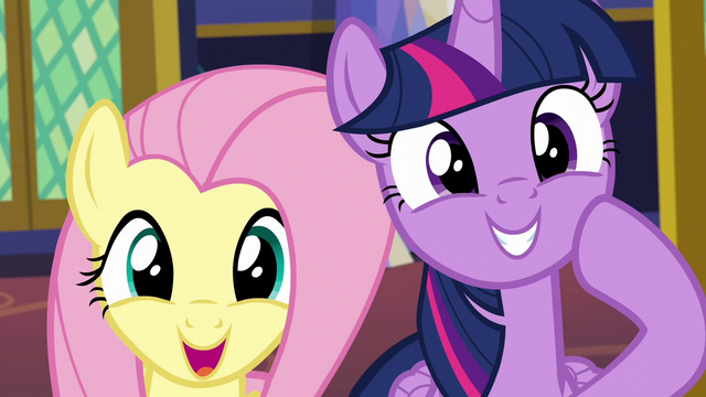 File:Twilight and Fluttershy very pleased S6E11.png