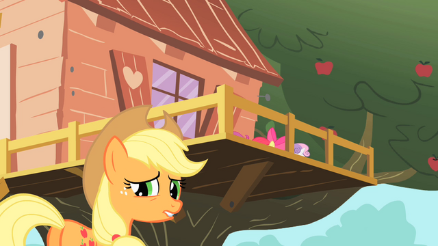 File:Applejack outside of clubhouse S01E18.png