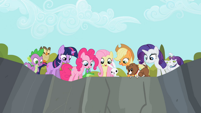 File:Other main ponies and their pets look down S2E7.png
