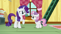 Rarity starting to look disappointed S7E6