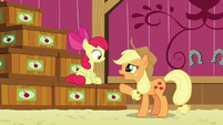 "Applejack ""kept track of what went into which crate"" S6E23"
