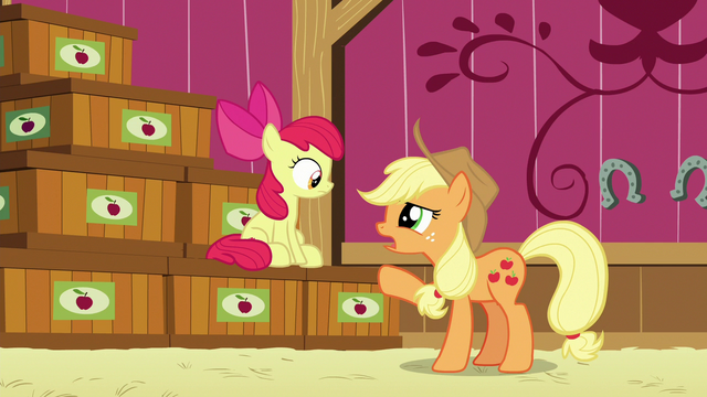 """File:Applejack """"kept track of what went into which crate"""" S6E23.png"""