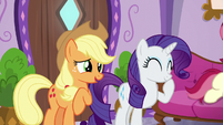 Applejack and Rarity having a laugh S6E10