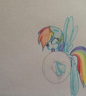 FANMADE Rainbow Dash blowing up inflatable tube