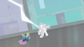 Henchpony being shocked by lightning S4E06.png