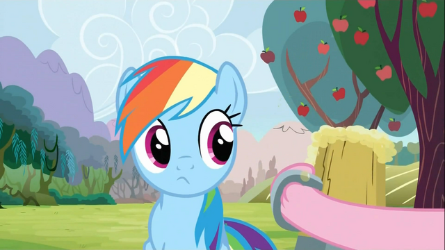 File:Rainbow Dash Being offered Cider S2E15.png
